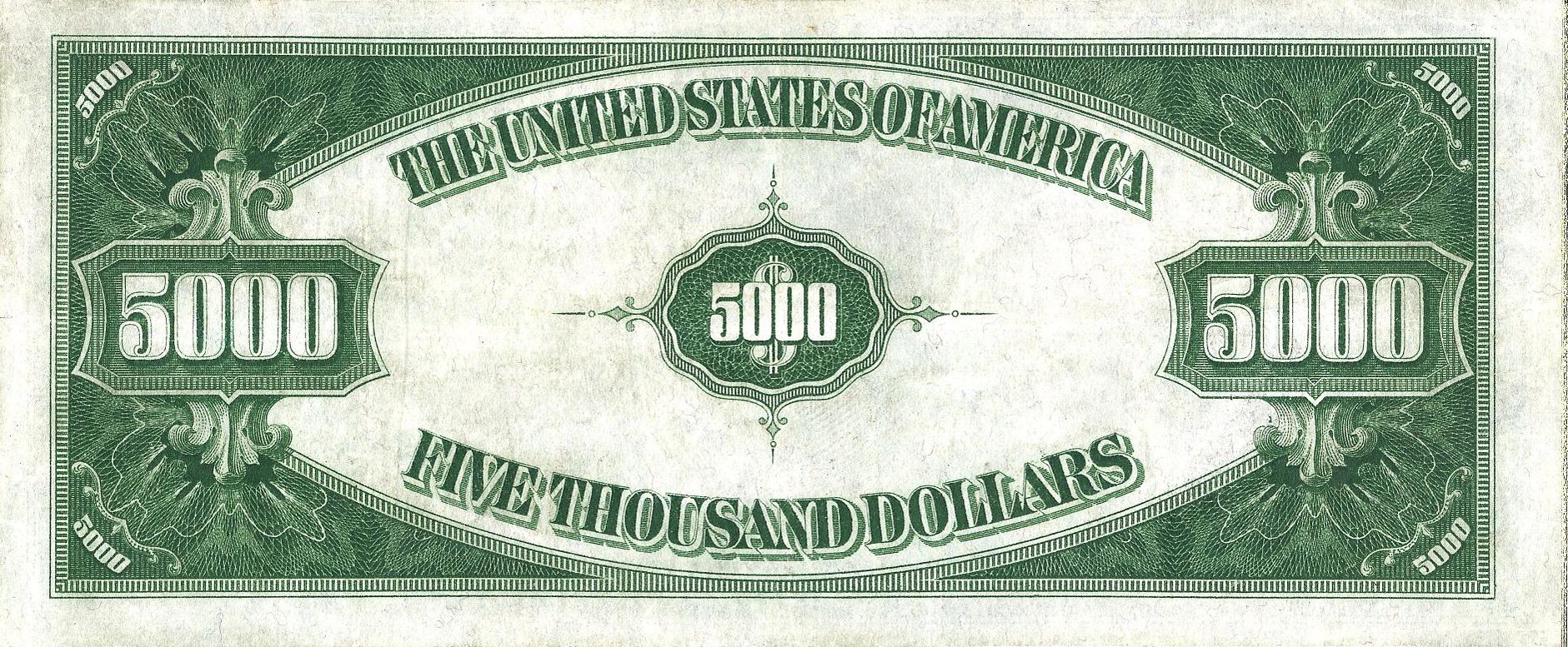 US $5000 1934 Federal Reserve Note Reverse.jpg