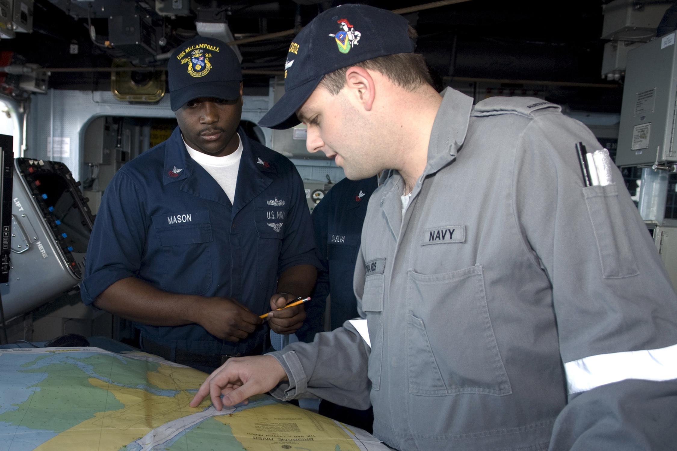 Military Pay Chart 2009: US Navy 090721-N-9123L-010 Quartermaster 1st Class Jory Mason ,Chart