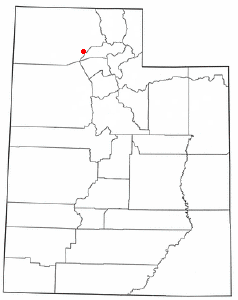 Location of Promontory Point, Utah