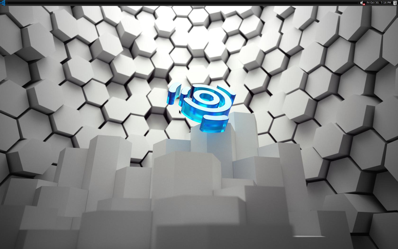 Desktop von Ubuntu Studio 9.10