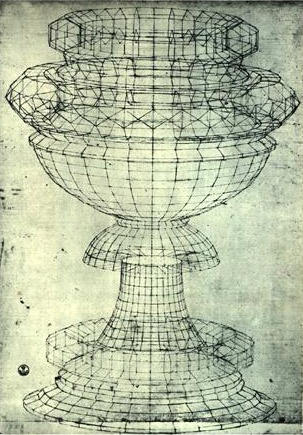 Paolo Uccello (1396-1475). Perspective Study of a Chalice, pen and ink on paper