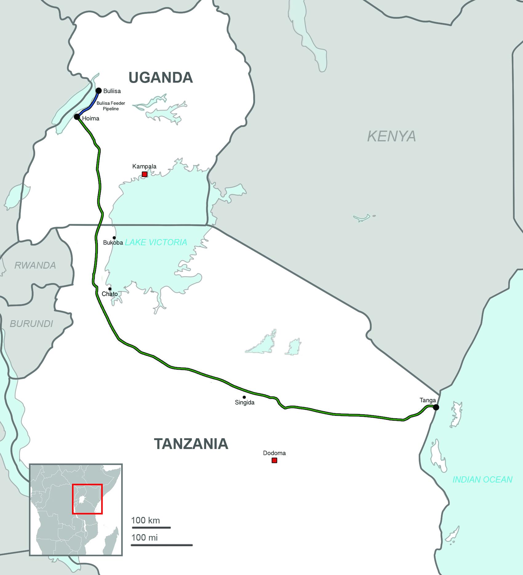 Uganda–Tanzania Crude Oil Pipeline - Wikipedia