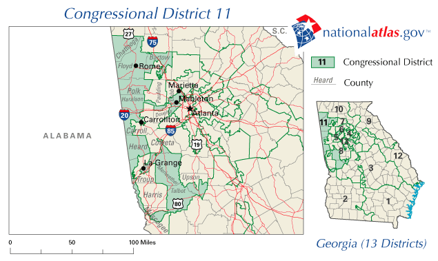 Fileunited States House Of Representatives Georgia District 11 Map - Map-of-us-representatives
