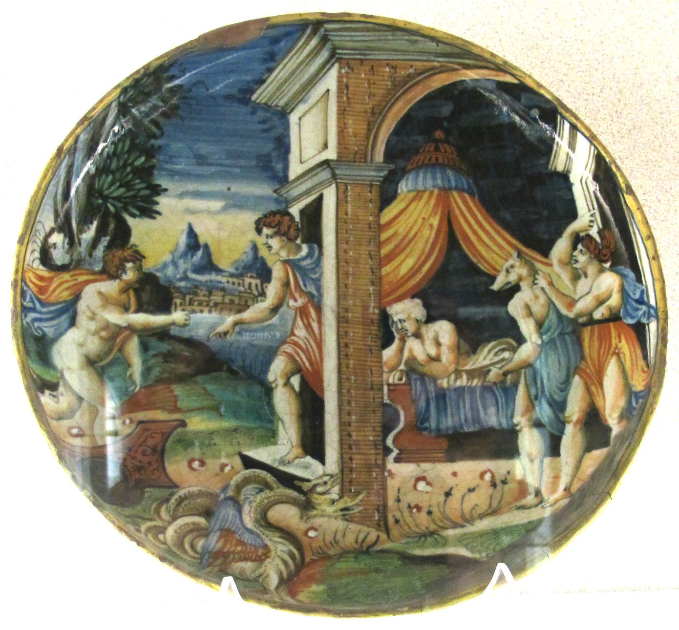 Merlino Bottega D Arte file:urbino, bottega di guido da merlino, trittolemo e linco