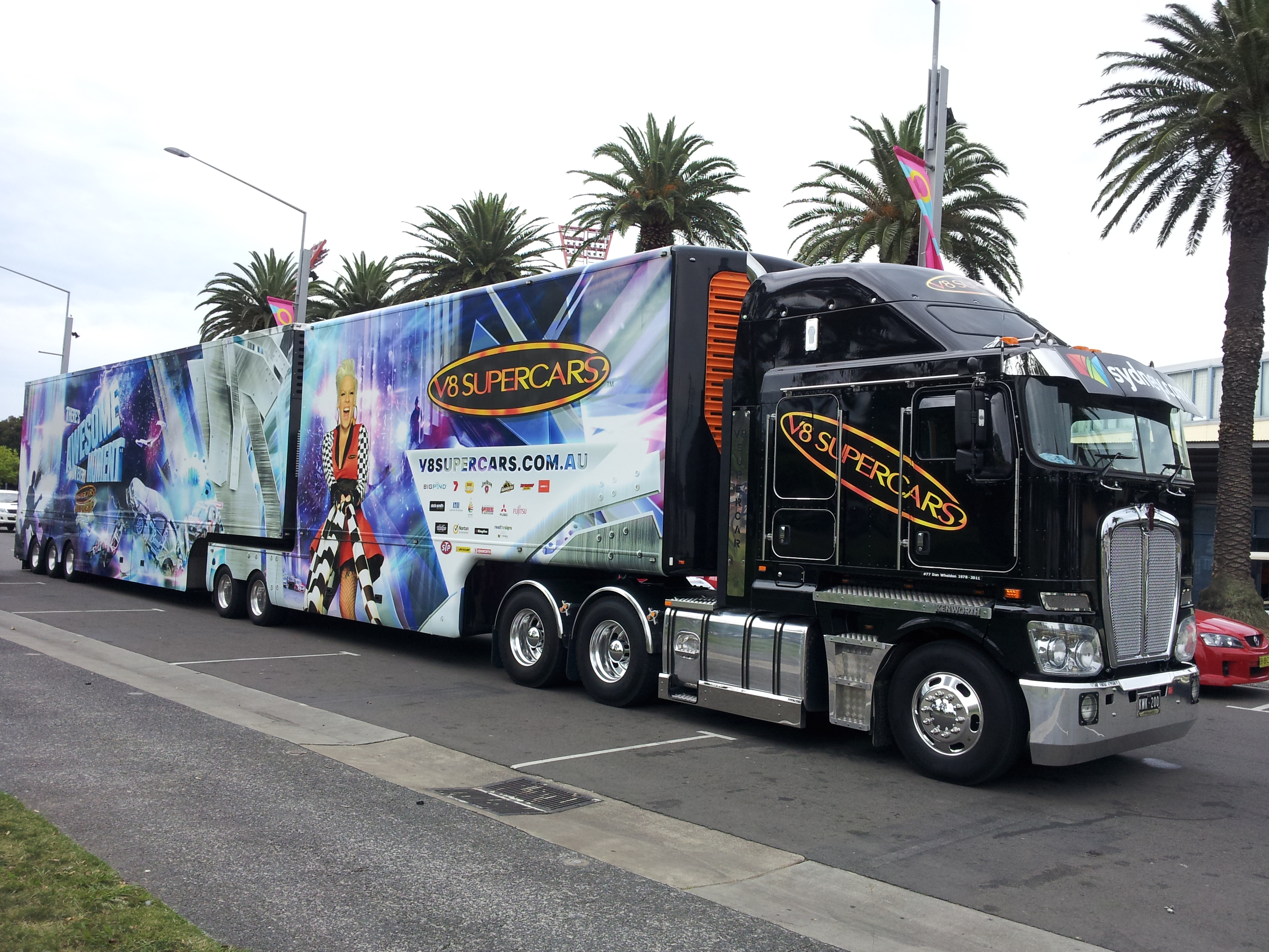 Ford Work Trucks File:V8 Supercars truck, 30 November 2011.jpg - Wikimedia ...