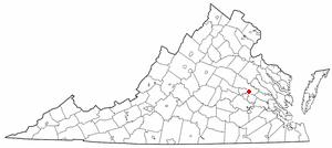 Location of Mechanicsville, Virginia