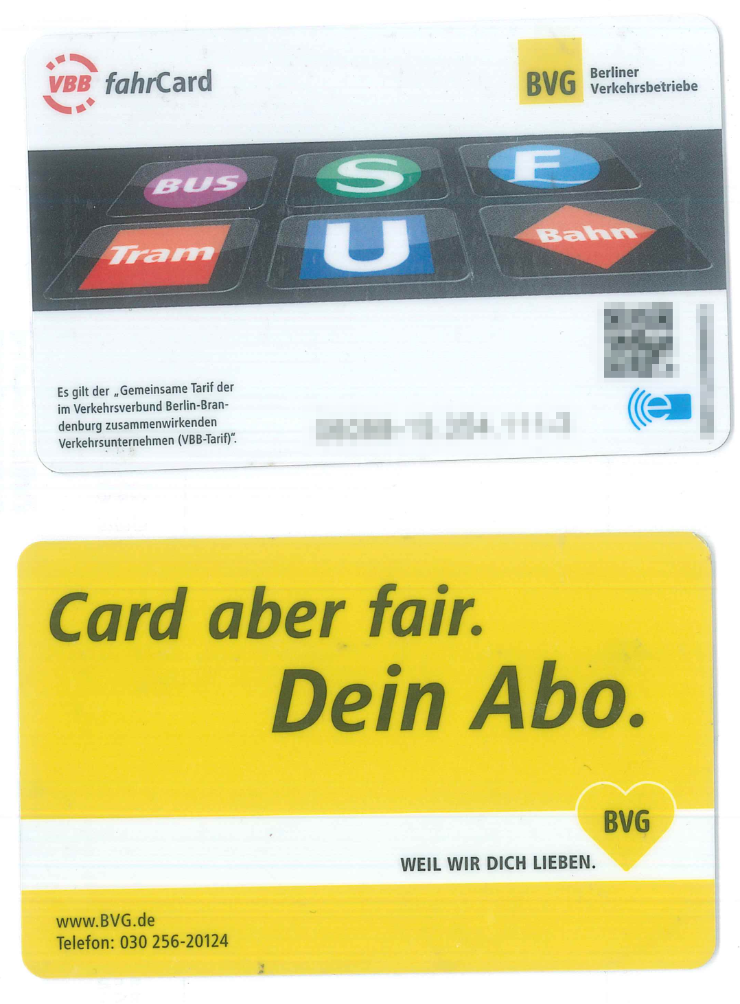 Photo of fahrCard