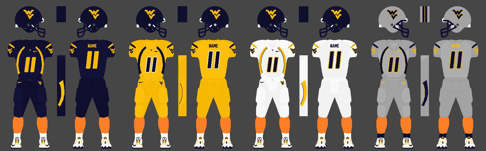 File Wvu Standard Football Uniforms Png Wikimedia Commons