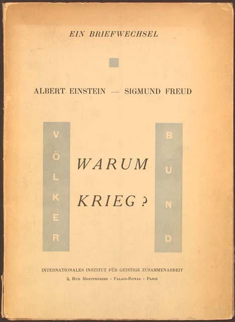 A paper on correspondence between sigmund freud and albert einstein