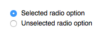 An example of a RadioSelectWidget