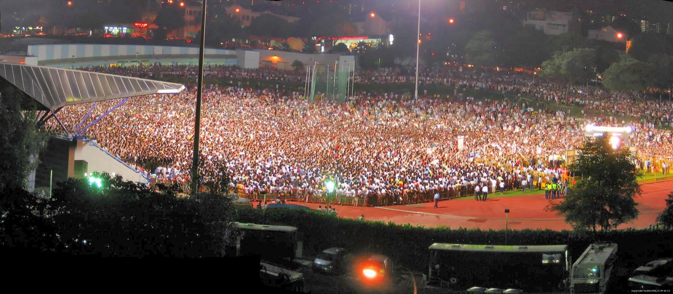 A Workers Party rally in Singapore.