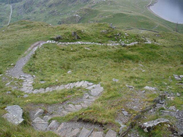 Zig-zag path, down to Llyn Idwal - geograph.org.uk - 1411693