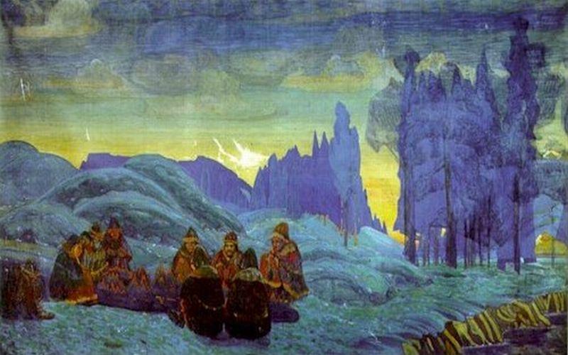 Николай Рерих. Поморяне. Вечер. 1907