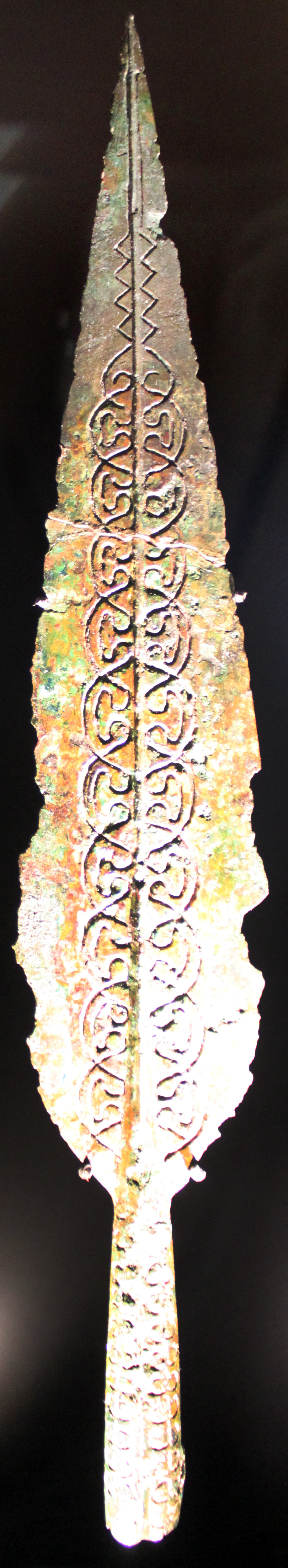 Picture of an ornamented spearhead from 6BC