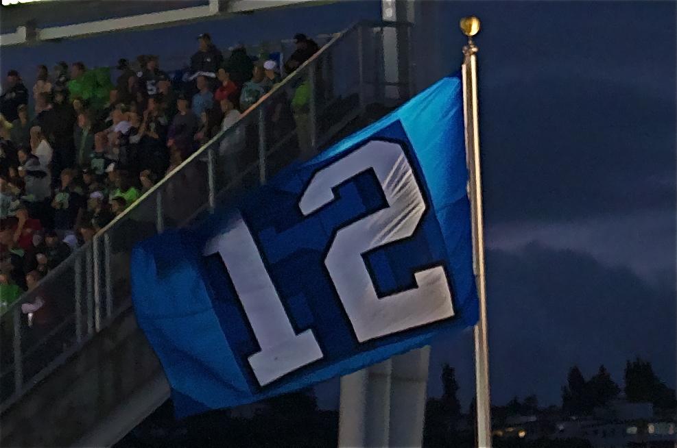 Men's Seattle Seahawks 12th Fan #12 Gray Gridiron Gray Limited Jersey