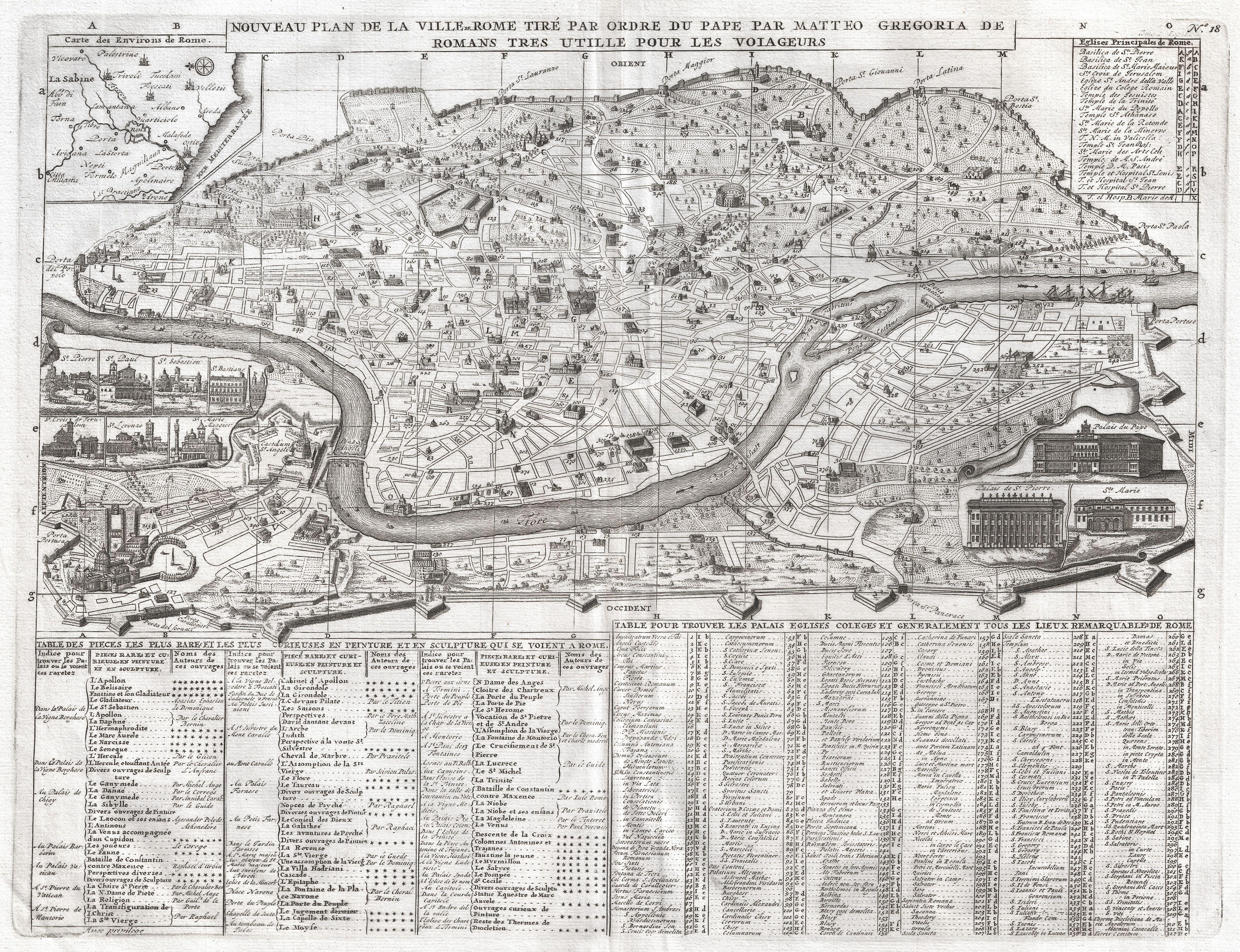 file1721 chatelain plan or map of rome italy