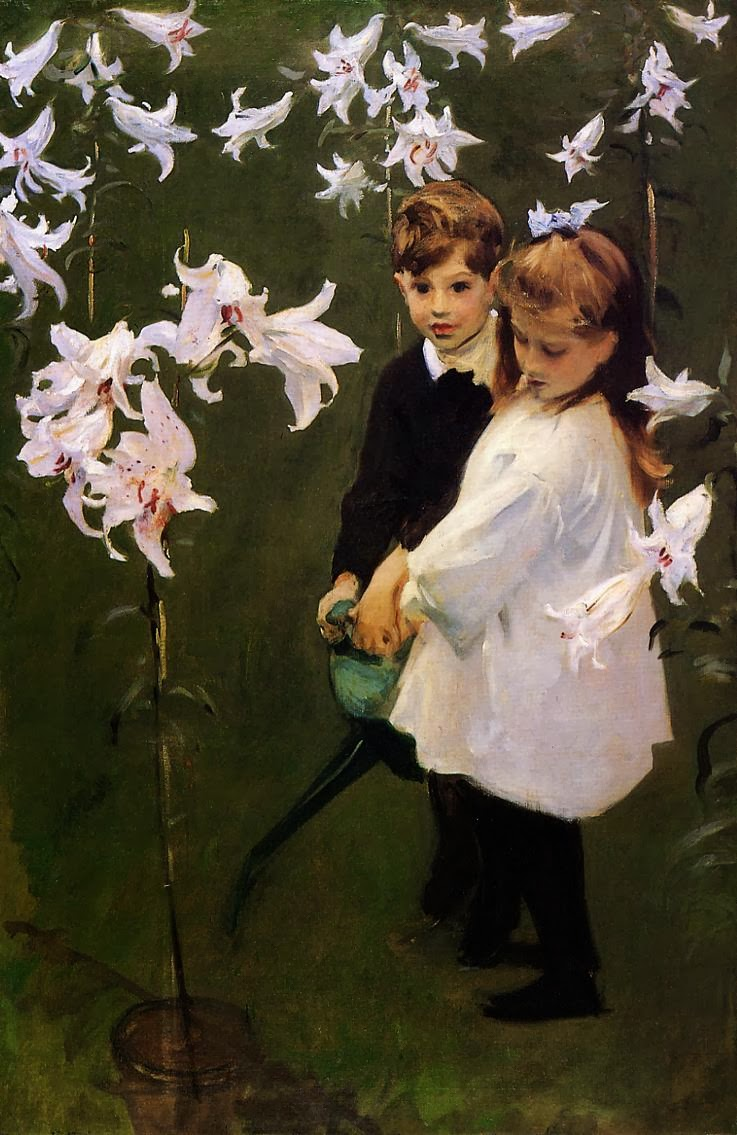 File:1884 Garden Study of the Vickers Children oil on canvas 137.6 x ...