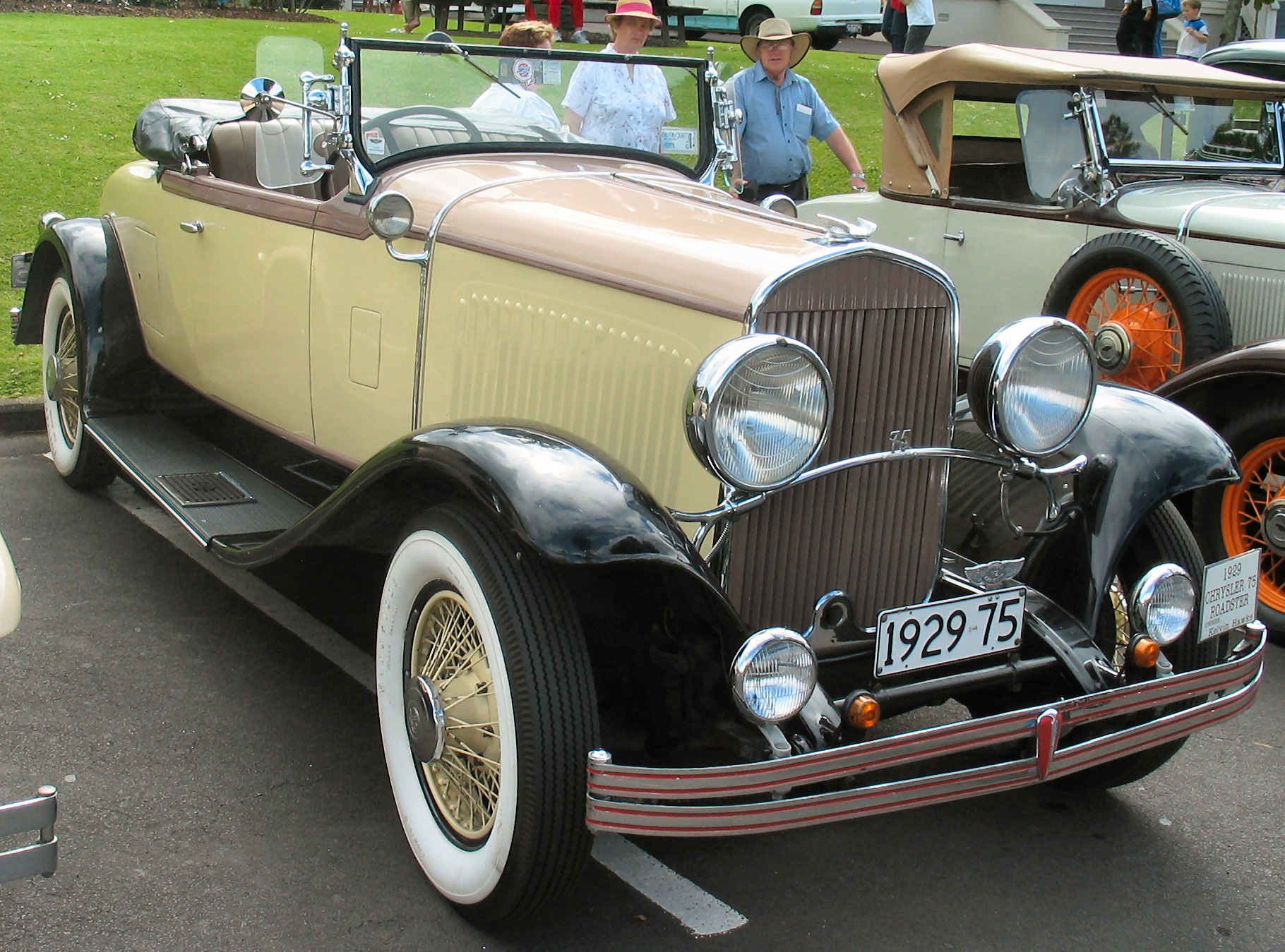 File 1929 Chrysler 75 Roadster Jpg Wikimedia Commons