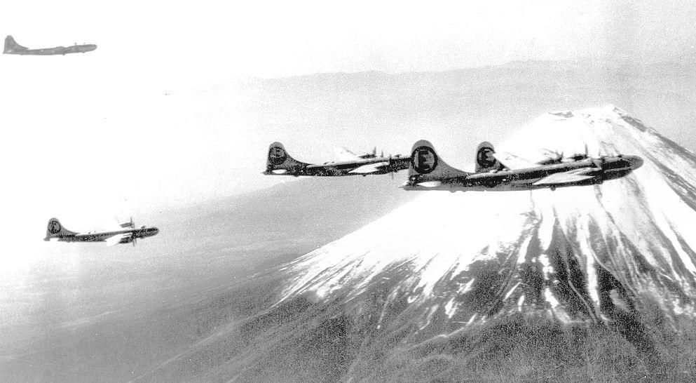 File:504th Bombardment Group over Mount Fuji 1945.jpg