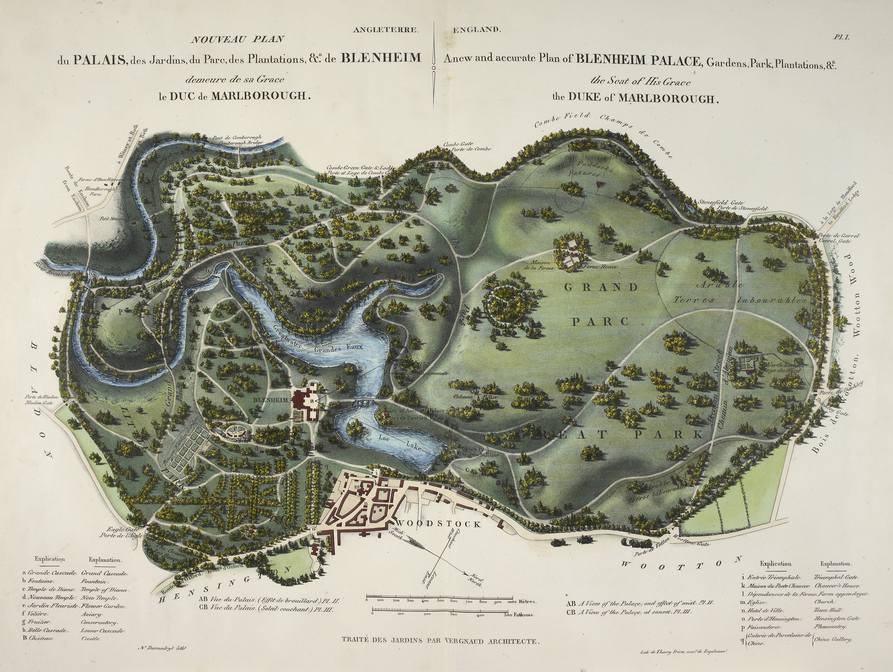 An overview of the Blenheim Palace park designed by Capability Brown