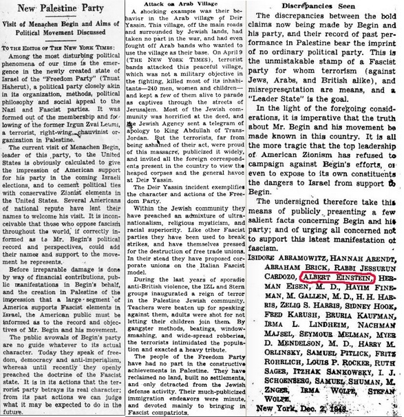 Albert Einstein, Zellig Harris and others letter