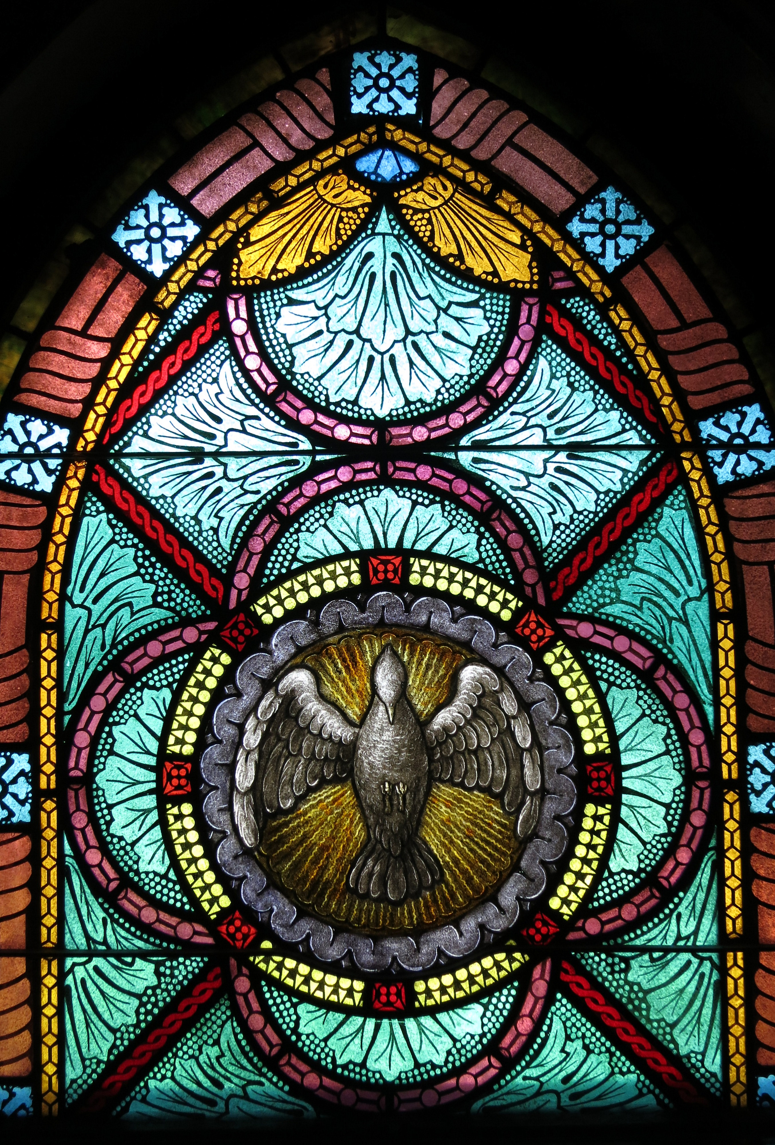 Symbol In Stained Glass