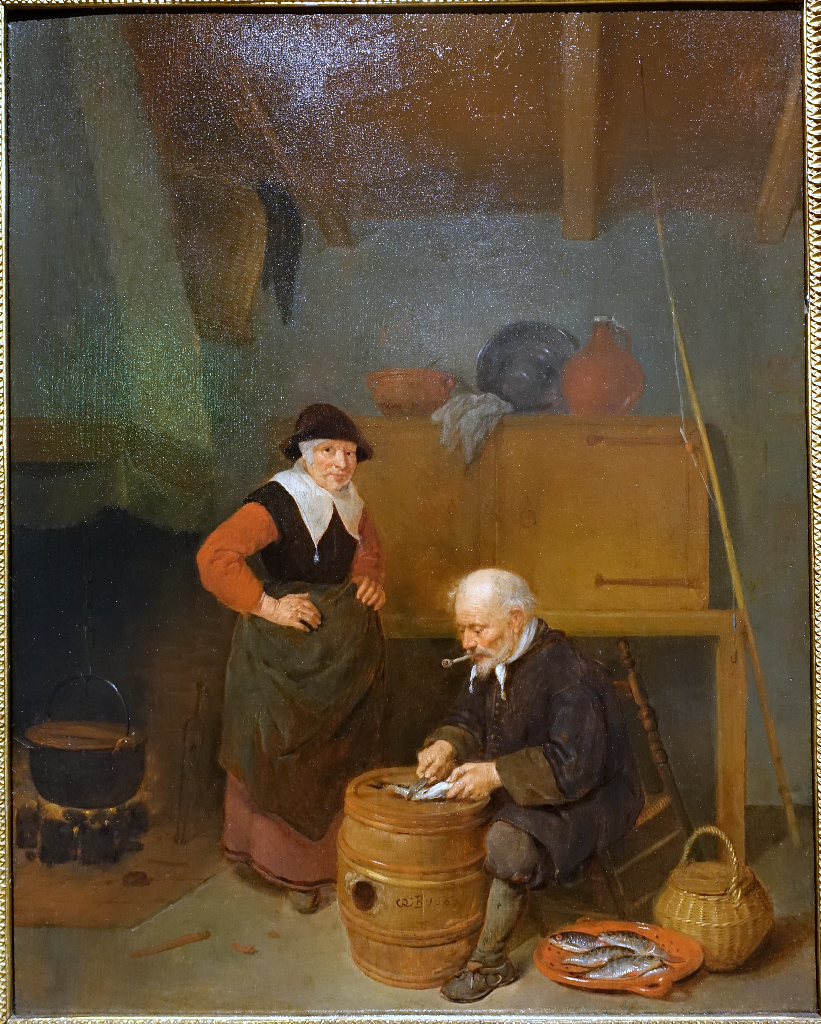File:An old man gutting a fish, Quiringh Gerritsz van Brekelenkam, 1667,