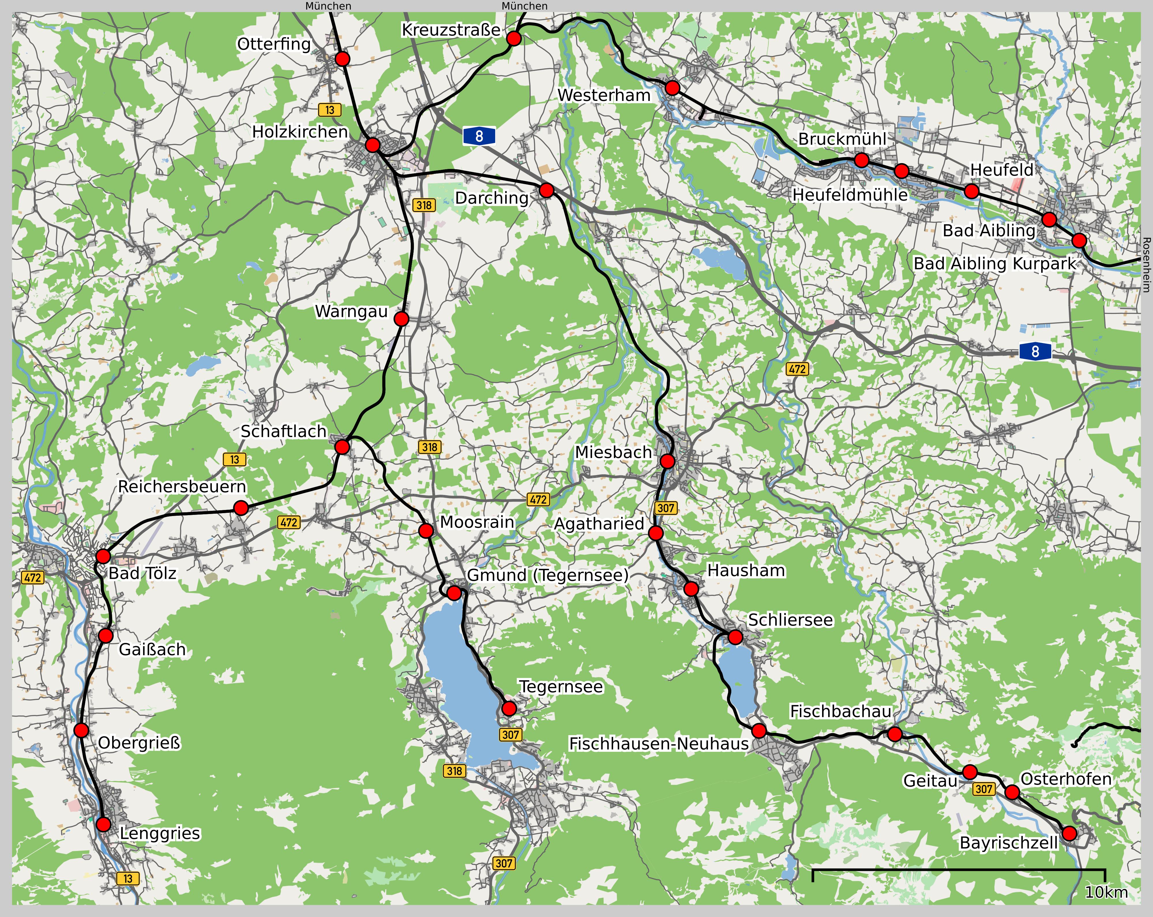 Bahnstrecke Holzkirchenschliersee Wikipedia