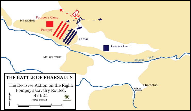 Battle Of Pharsalus Wikipedia - Ancient rome map battle sites