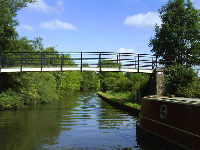 Bridge 72A (Kixley Footbridge) over the Grand Union Canal - geograph.org.uk - 1432538