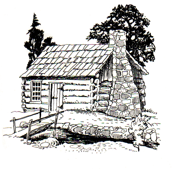 cabin coloring pages - photo#9