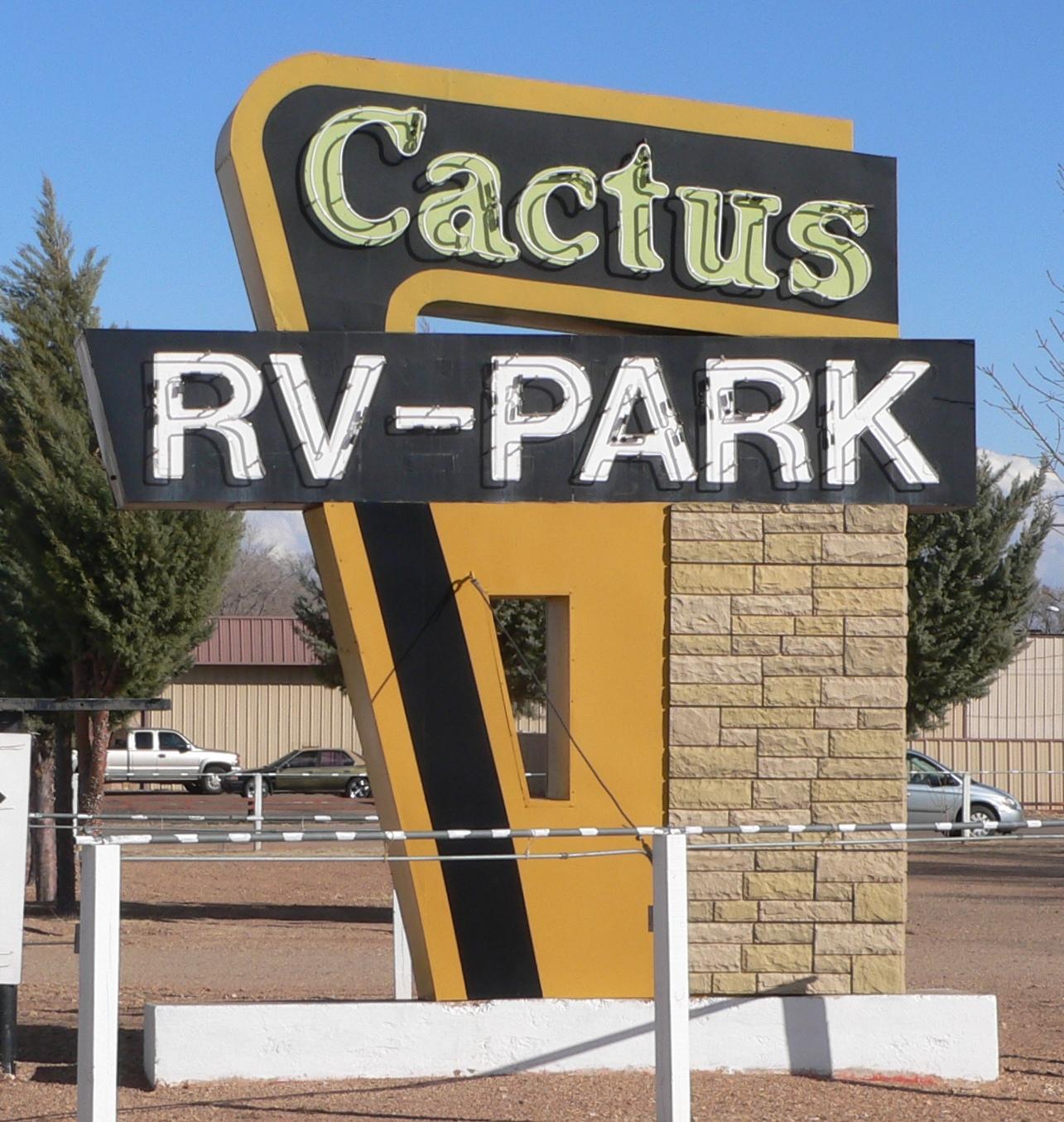 FileCactus RV Park Tucumcari NM Sign From WJPG