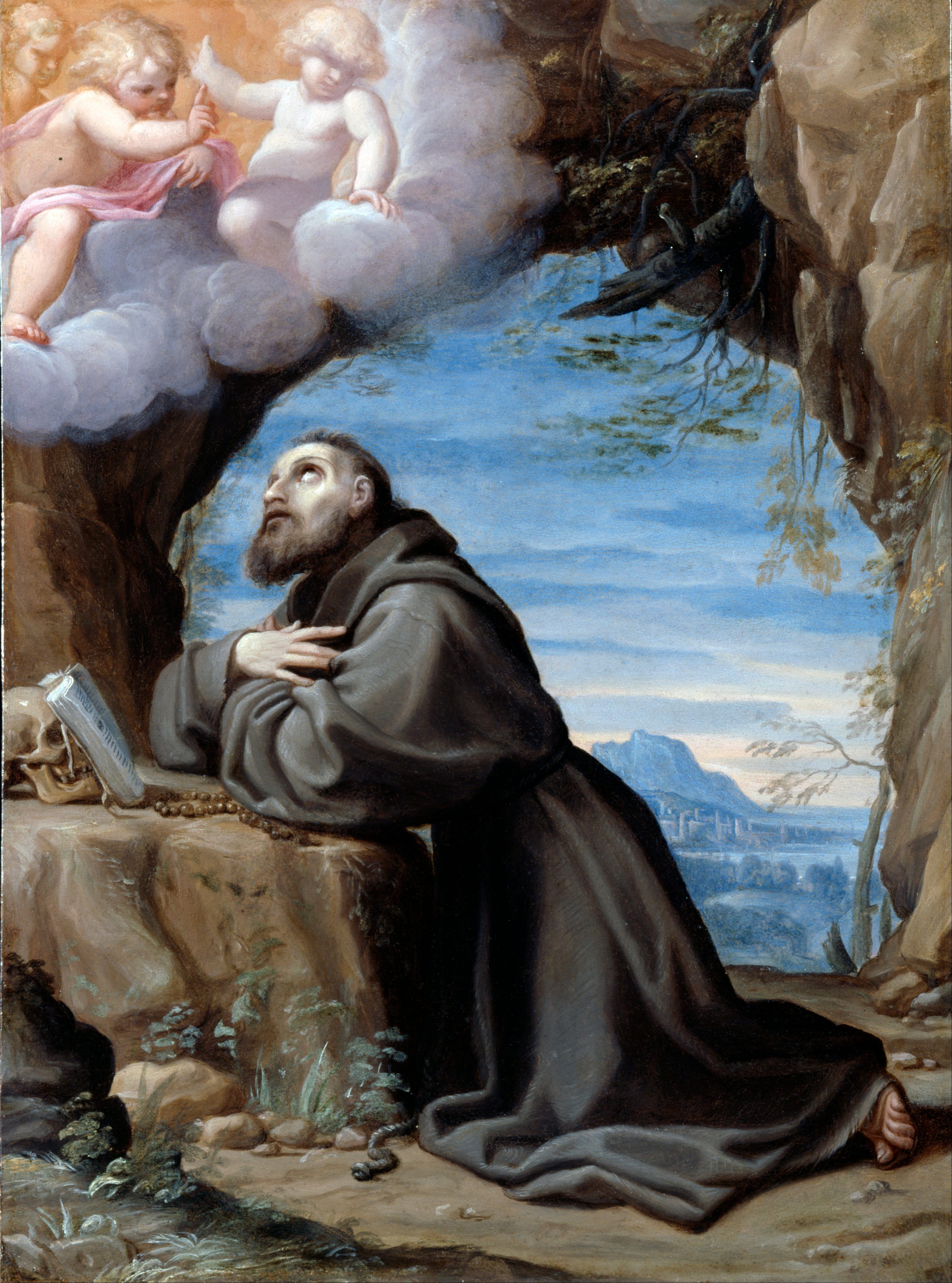 What Type Of Oil >> File:Carracci, Lodovico - St Francis in Meditation