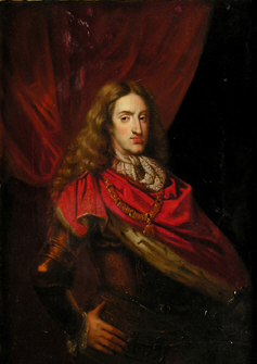 Charles II, 1665-1700; last Habsburg King of Spain; his Habsburg chin is clearly visible Charles II of Spain anonymous portrait.jpg