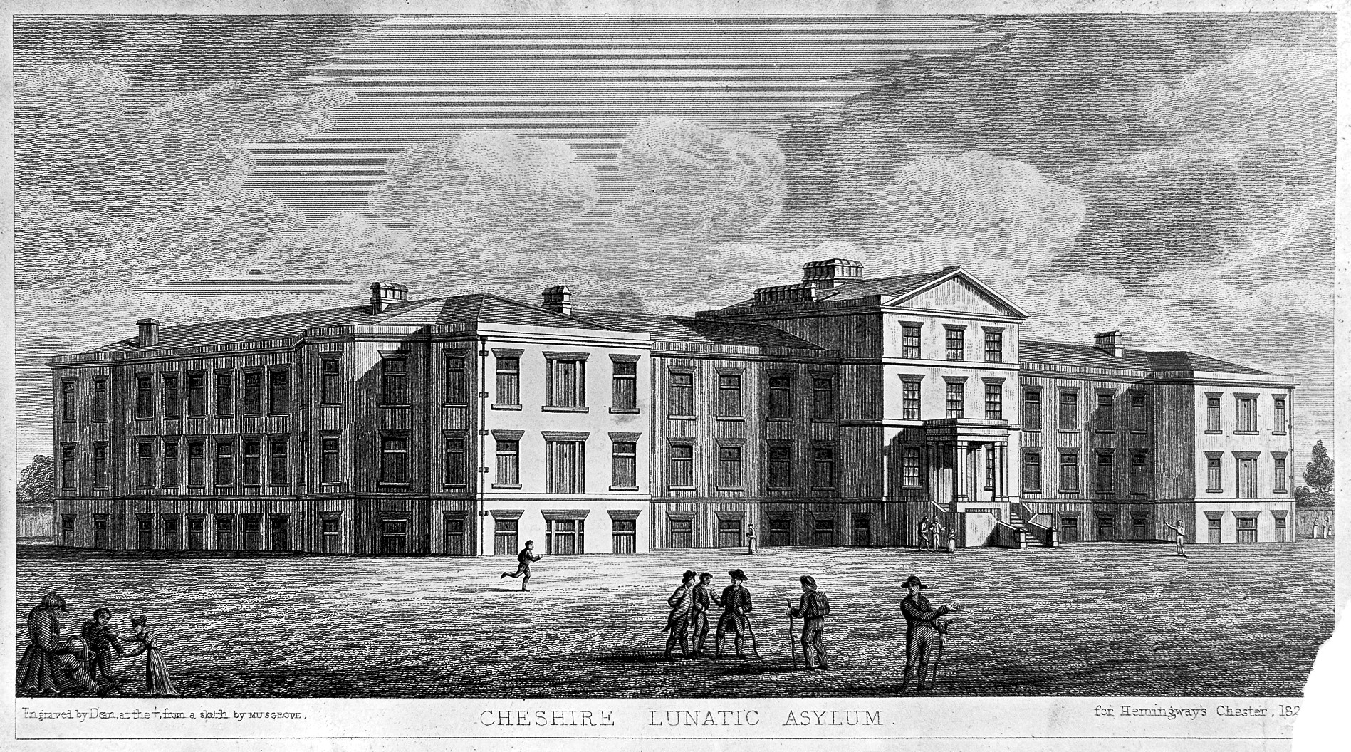 File cheshire lunatic asylum cheshire line engraving by for Chesire house