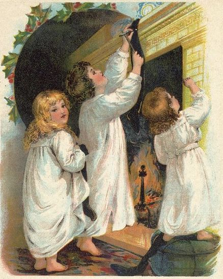 File:Children Hanging Christmas Stockings.jpg
