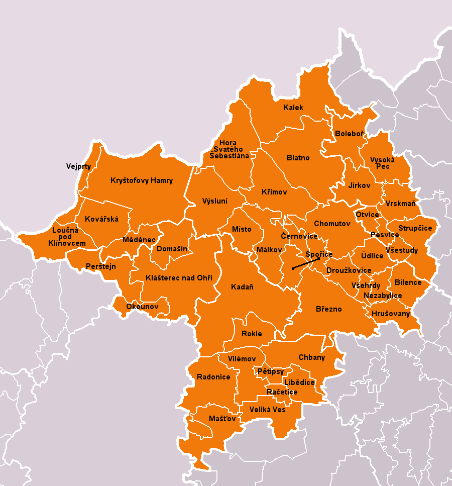 Municipalities of Chomutov District