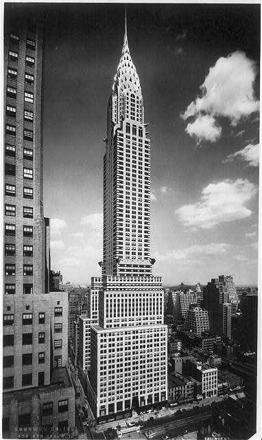 The iconic Chrysler Building in New York City was company headquarters from 1930 until the mid-1950s Chrysler Building, NY.jpg