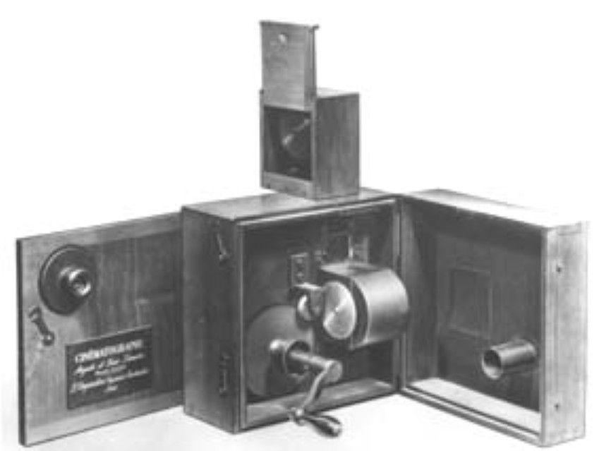 Lumière brothers movie camera in 1895