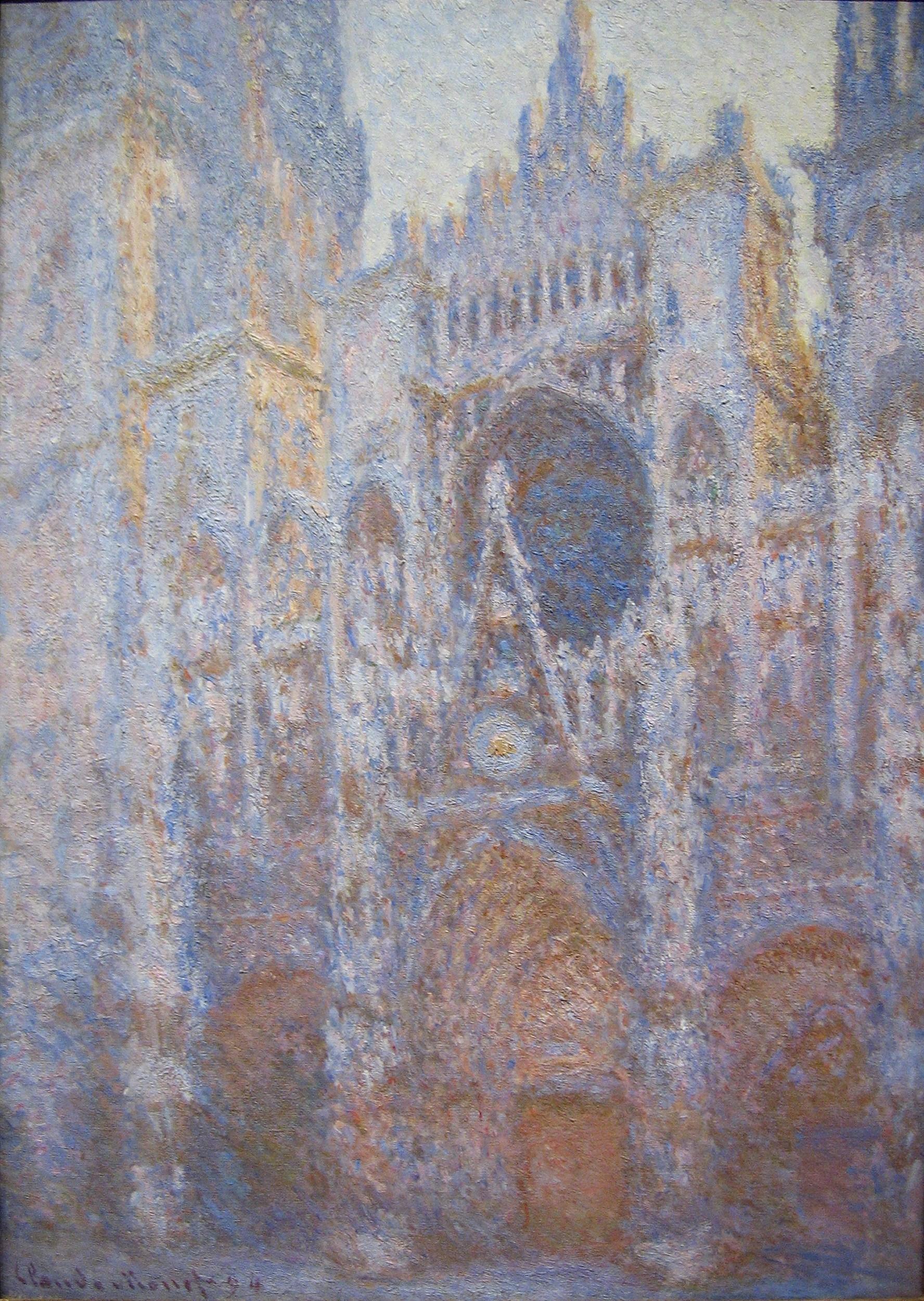THE BRIDGE-WAY - Page 17 Claude_Monet_-_Rouen_Cathedral,_West_Facade