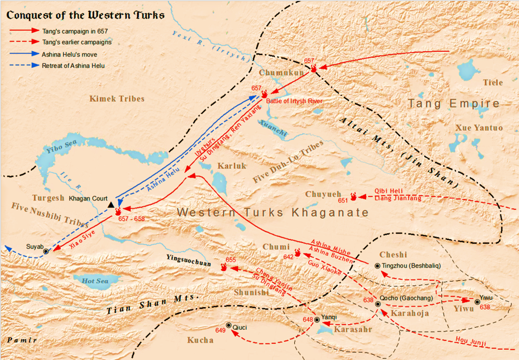 Tang Campaigns Against The Western Turks