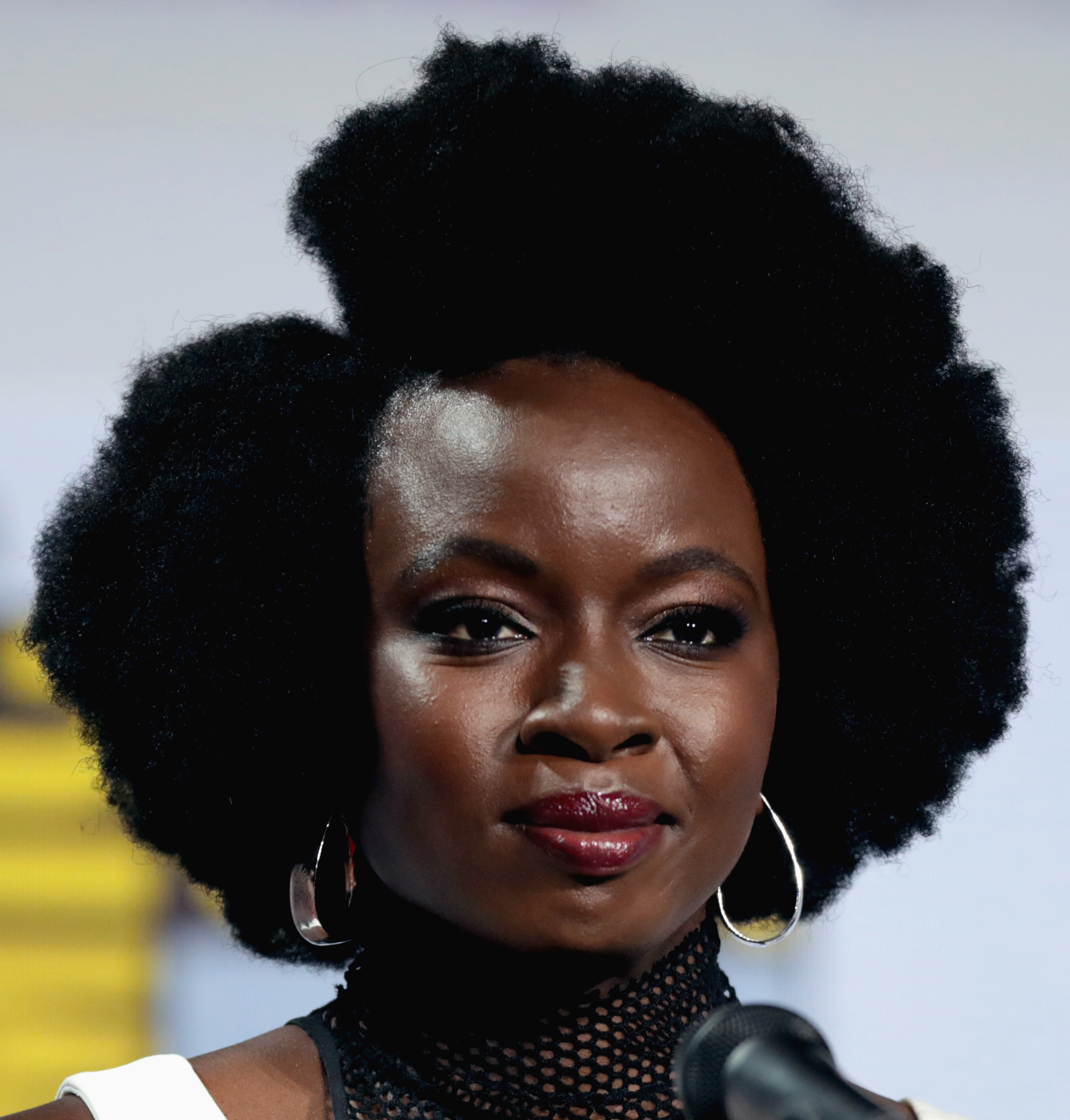 The 42-year old daughter of father (?) and mother(?) Danai Gurira in 2021 photo. Danai Gurira earned a  million dollar salary - leaving the net worth at 0.5 million in 2021