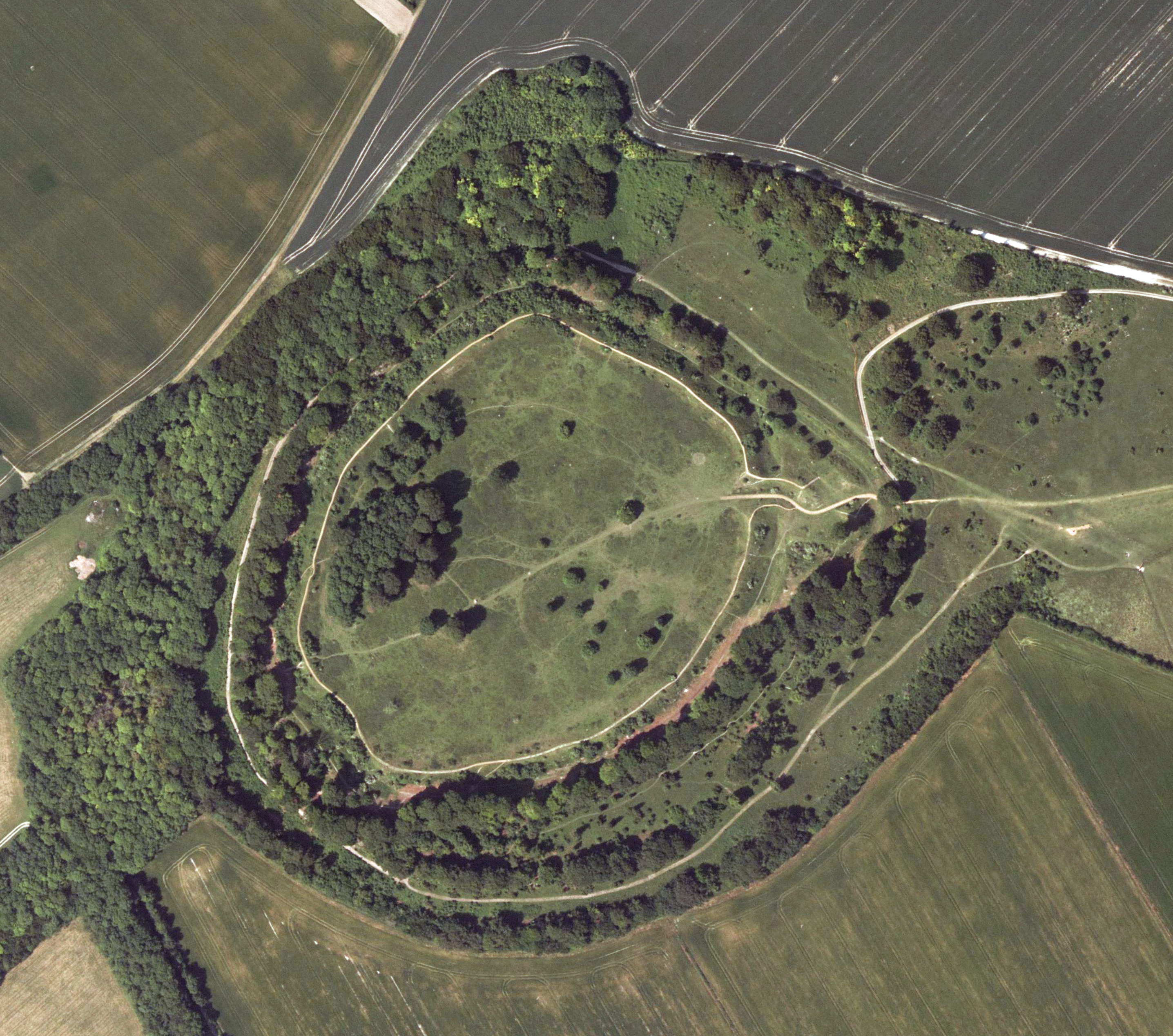 Danebury Fort - aerial image, Hampshire Data Portal.jpg