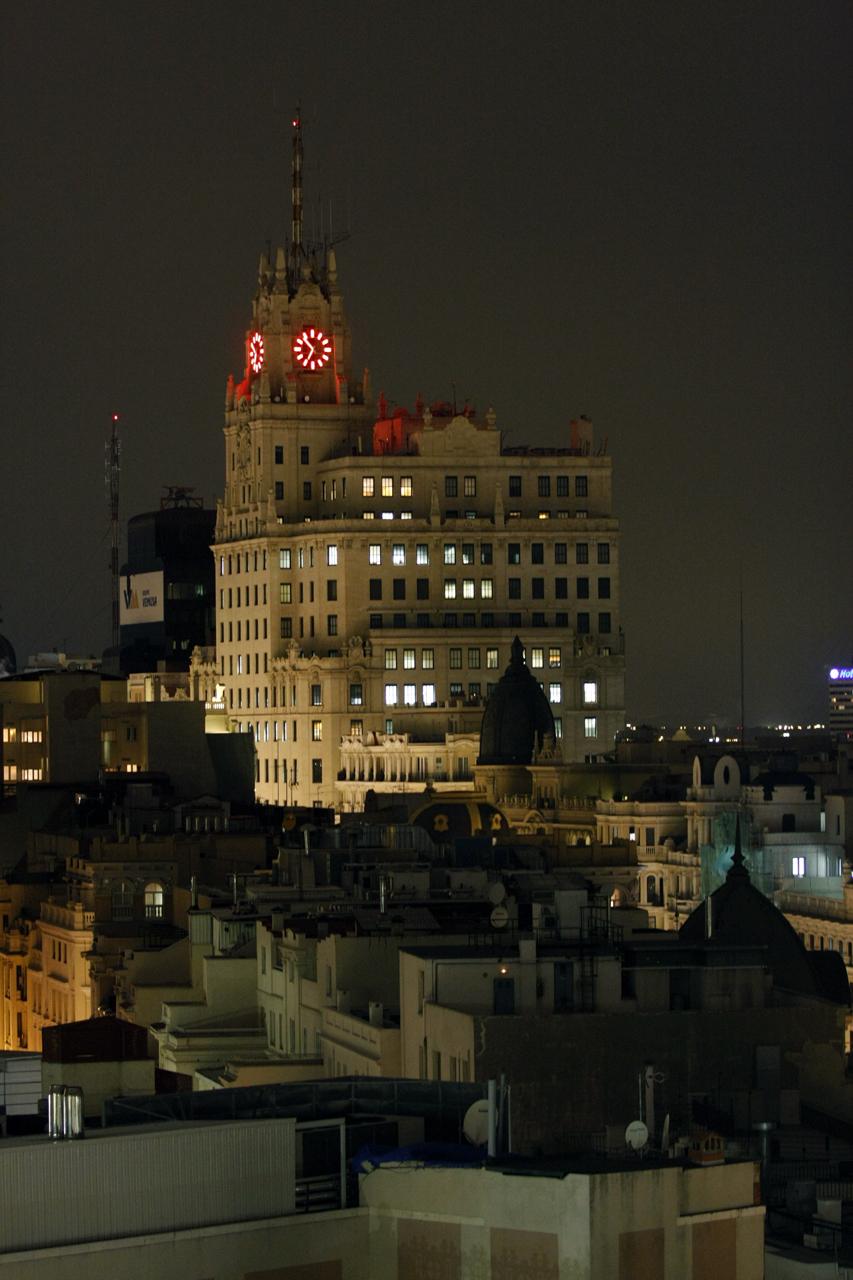 File Edificio Telefonica De Noche Desde La Terraza Del