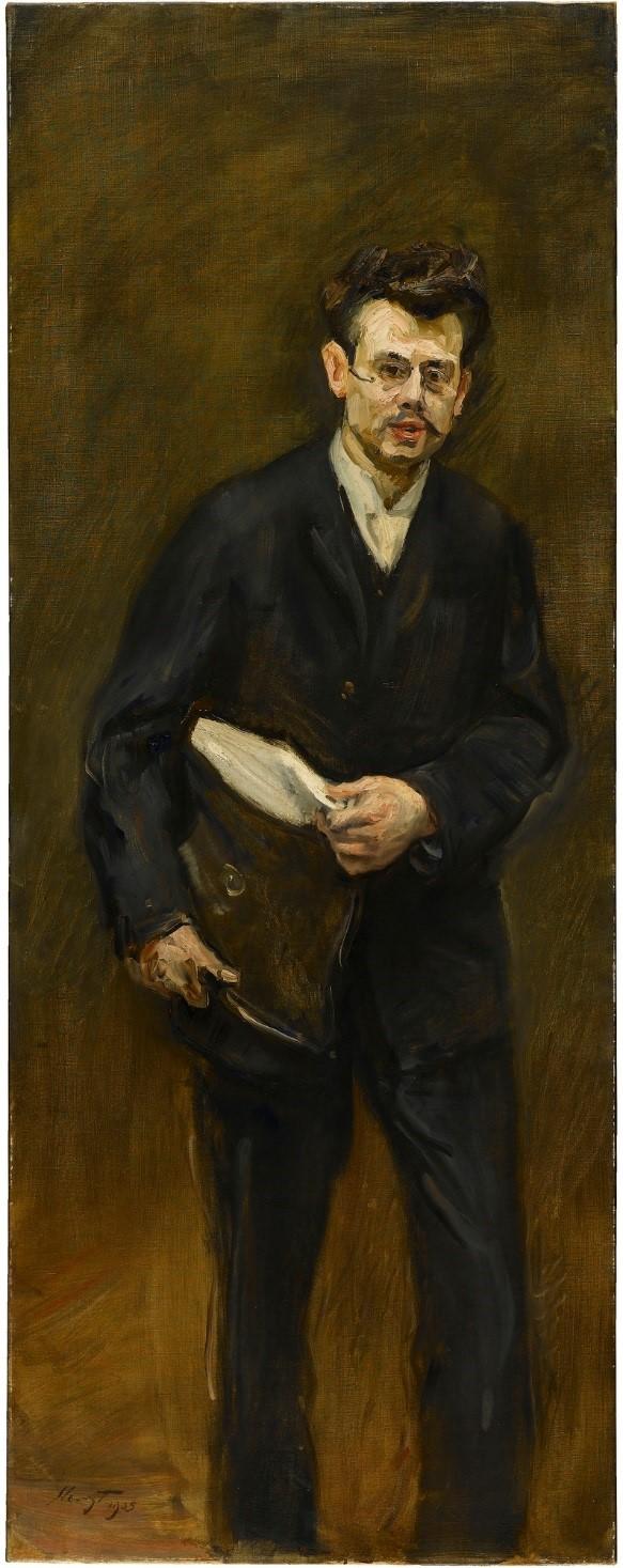 Painting portrait of Eduard Fuchs, 1905