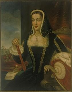 Eleonora d'Arborea. Dipinto di fantasia di Antonio Caboni 1881