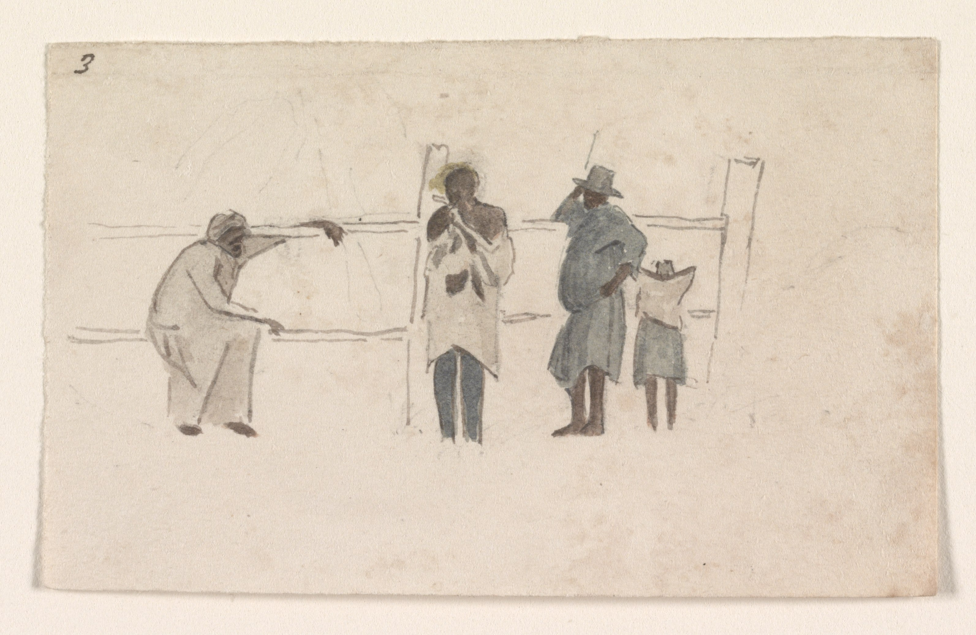File:Four Jamaican figures talking at a fence LCCN2010652217