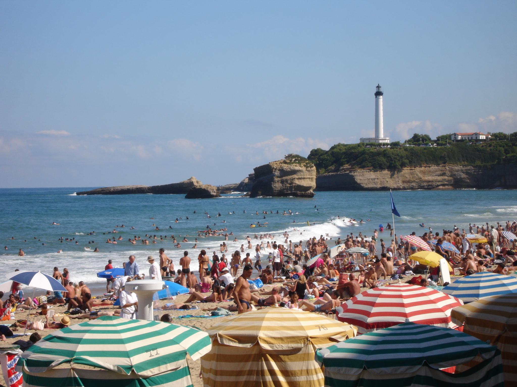 Aout sur une plage de Biarritz
