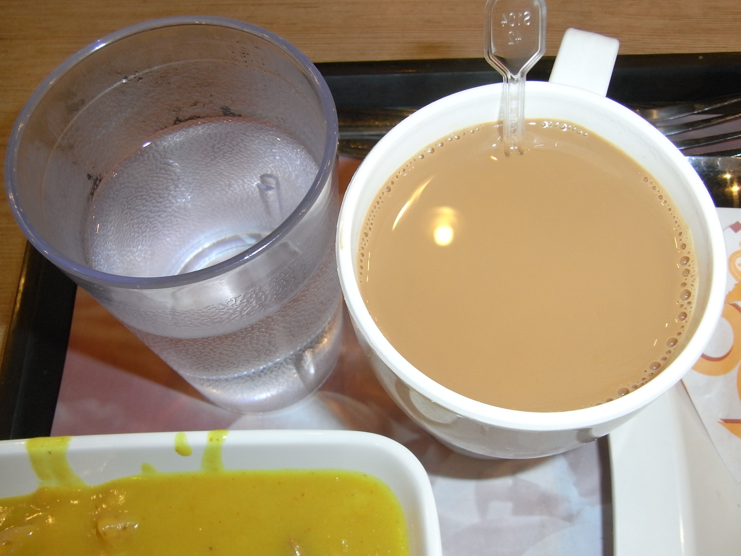 File:HK lunch 大家樂 Coral de Cafe cup of Milk Tea n boiled ...