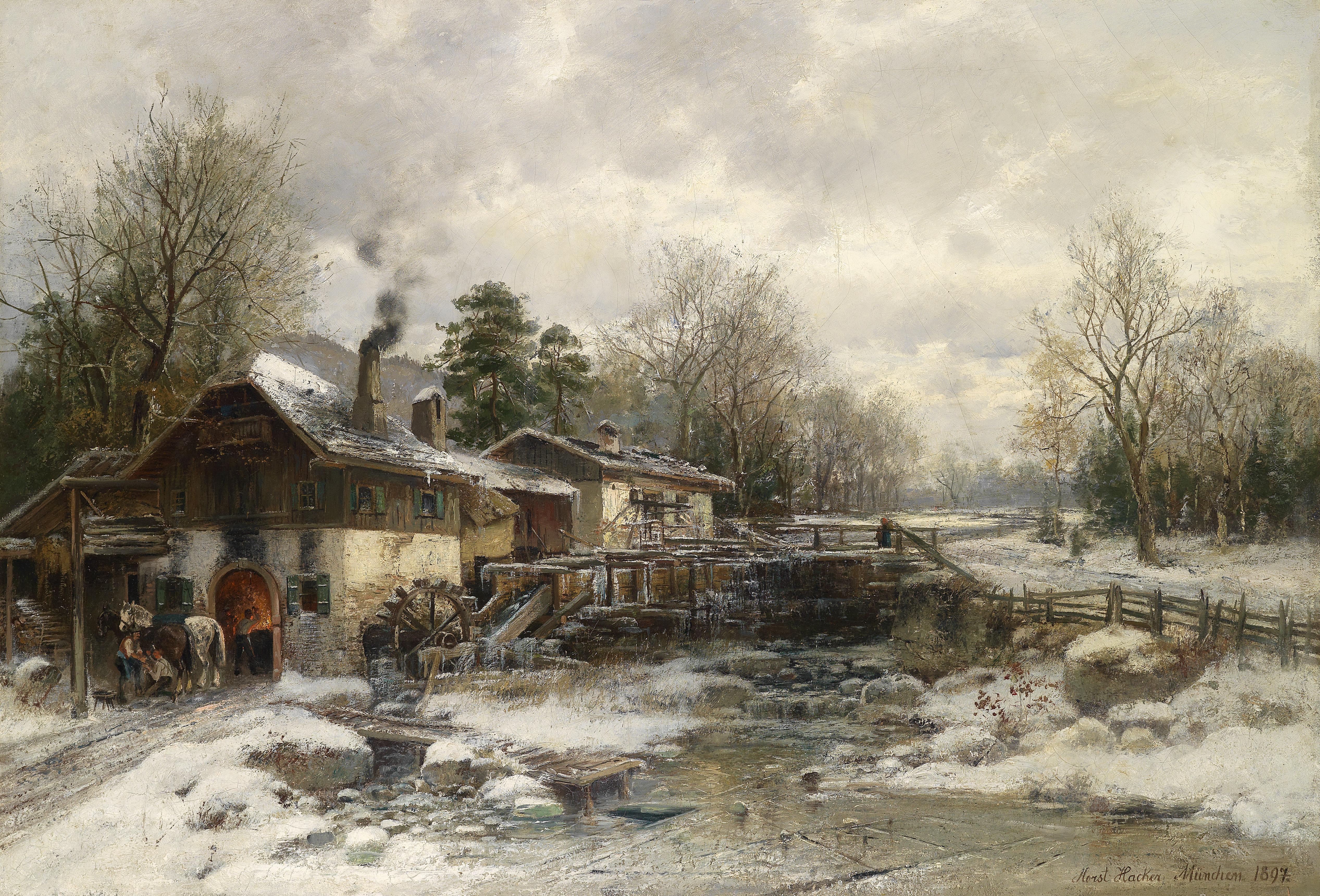 File:Horst Hacker Schmiede im Winter 1897.jpg - Wikimedia ...